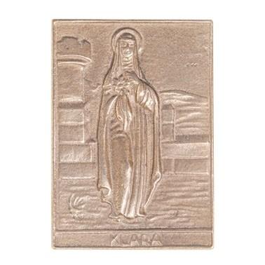 Heilige Klara - Bronzeplakette
