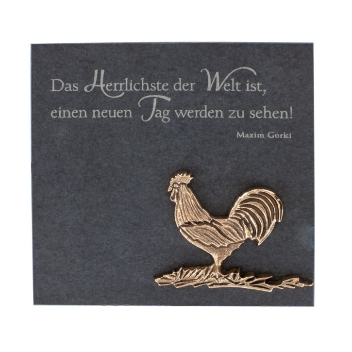 Schieferrelief Hahn
