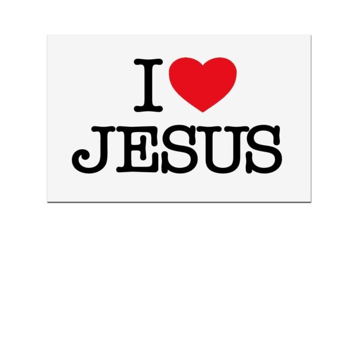 Aufkleber - I love Jesus