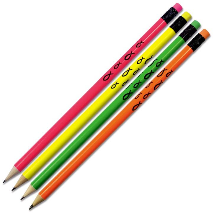 Bleistift-4er-Set - Neon