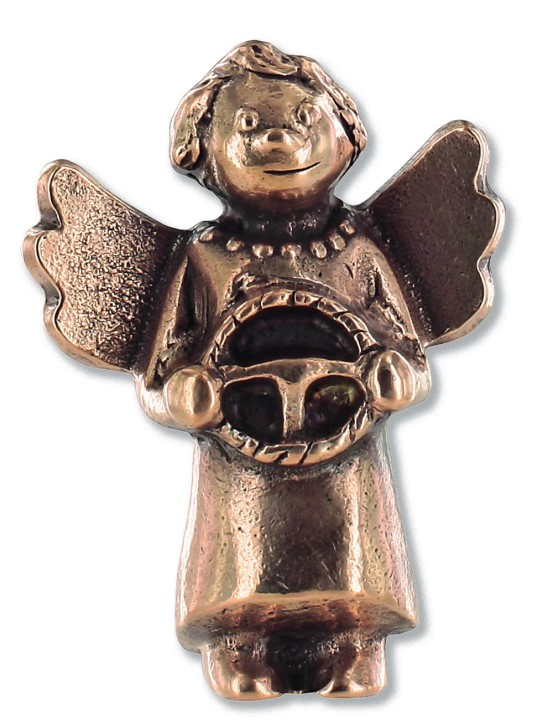 Schutzengel für unterwegs, aus Bronze