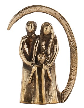 Bronzeminiatur Familienglück