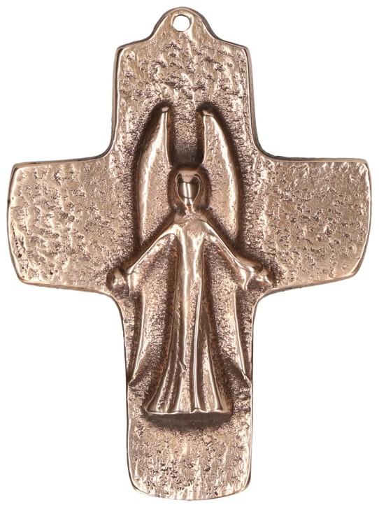 Kommunionkreuz aus Bronze Ein Engel begleitet dich