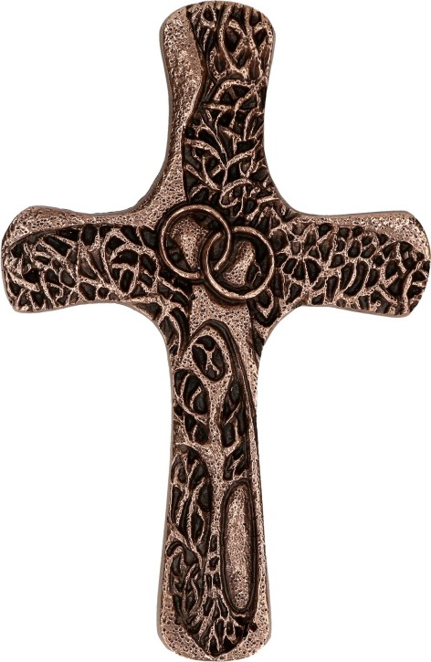 Ehekreuz aus Bronze - Segen sei mit euch