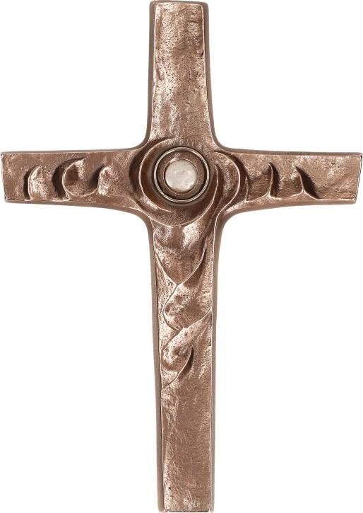 Bronzekreuz mit Bergkristall - Zur Mitte