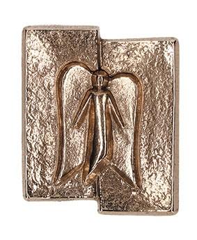 Kreuzplakette Schutzengel aus Bronze