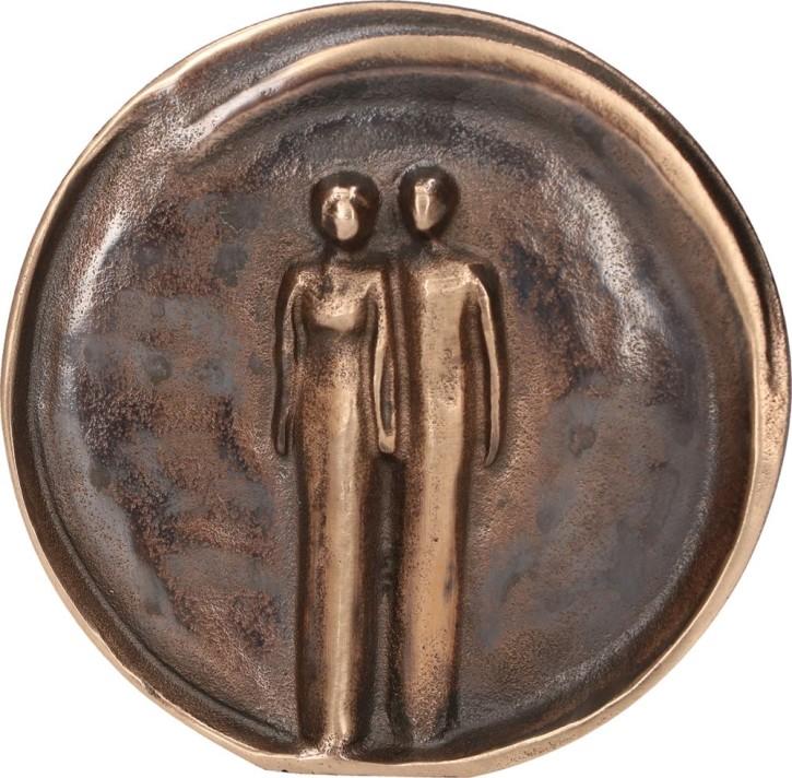 Relief aus Bronze Paar