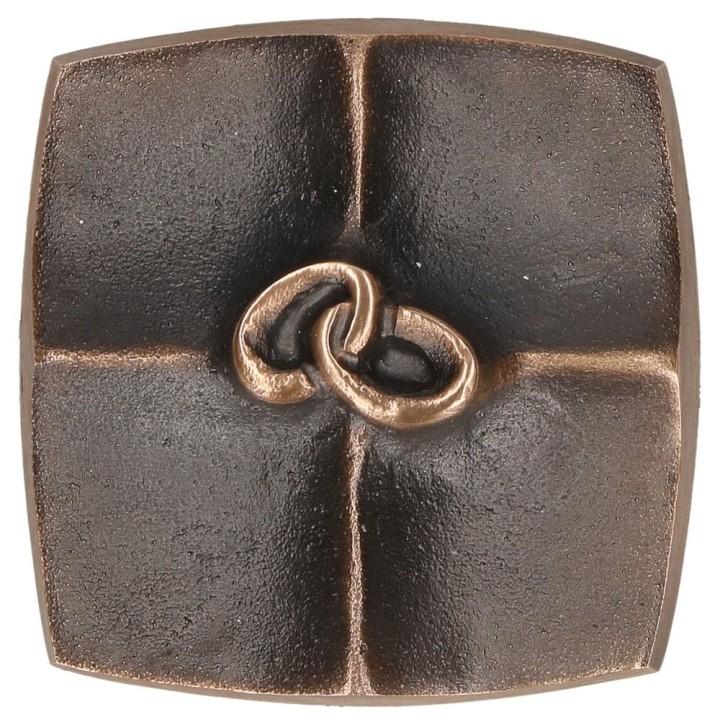 Kreuzplakette aus Bronze - Eheringe