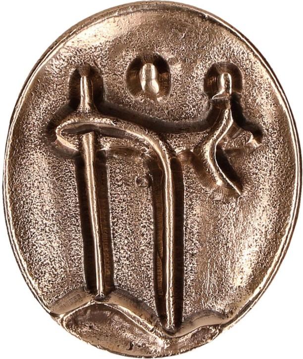 Bronzeplakette mit Magnet - Christophorus