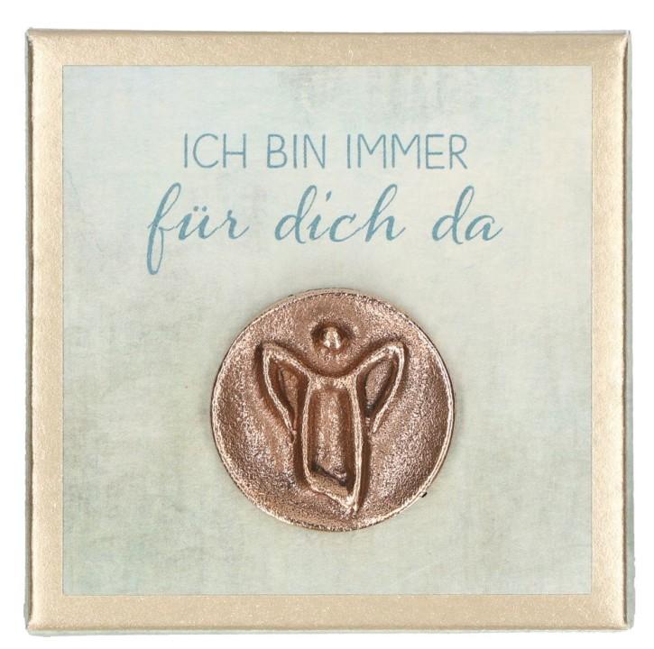 Engel-Plakette aus Bronze - Ich bin immer für dich da