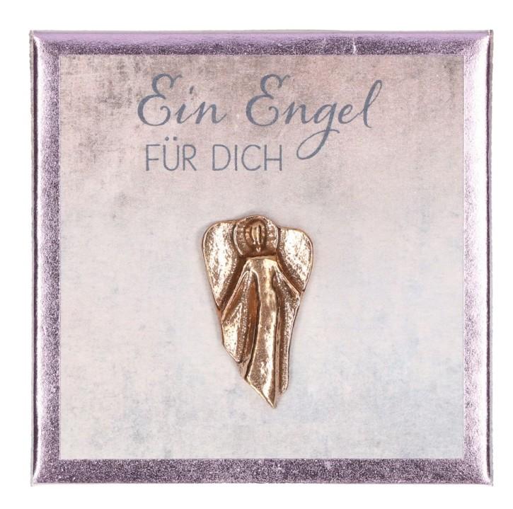 Engel-Plakette aus Bronze - Ein Engel für Dich
