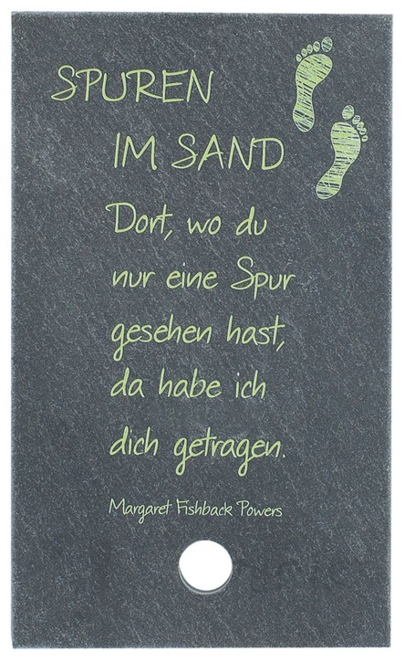 Spuren im Sand Text