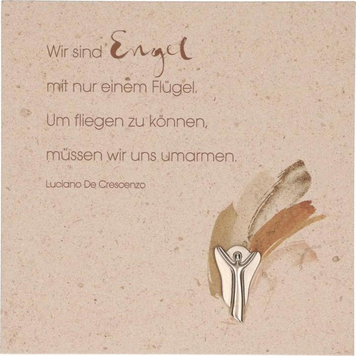 Natursteintafel - Wir sind Engel