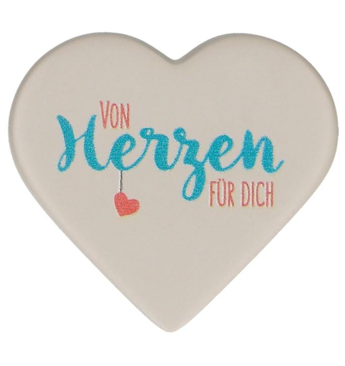FeinbetonMagnet-Herz - Von Herzen für dich