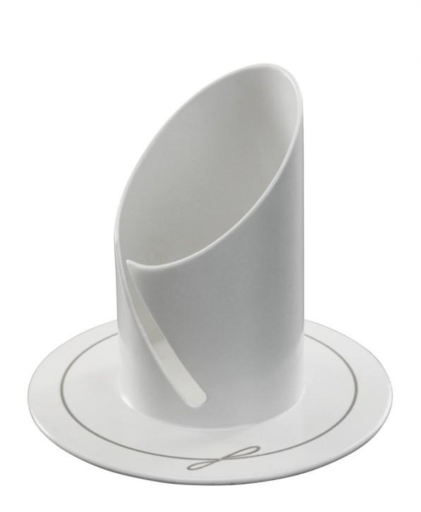 Kerzenständer aus Metall, weiß lackiert