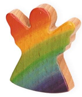 Handschmeichler Regenbogen-Engel aus Holz
