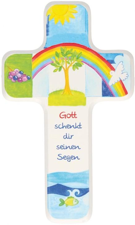 Kinderholzkreuz Gott schenkt dir seinen Segen