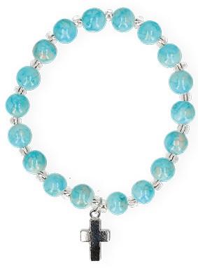 Armband mit marmorierten Glasperlen