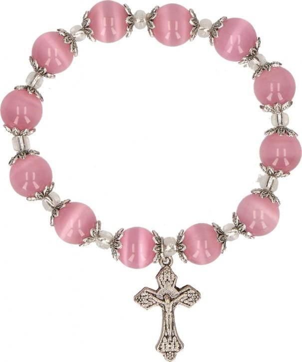 Armband mit rosa Glasperlen