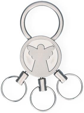 Schlüsselanhänger Engel mit 3 abnehmbaren Ringen
