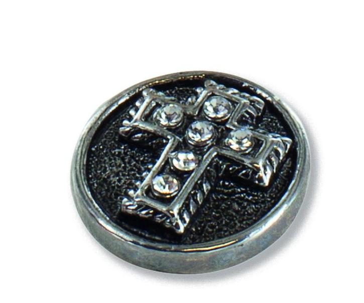 Design-Druckknopf Kreuz mit Steinchen