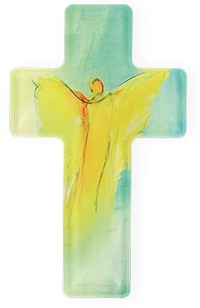 Kreuz aus Acryl Dein Engel