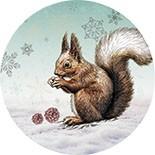 Acrylglas-Magnet Zauberhafte Winterzeit