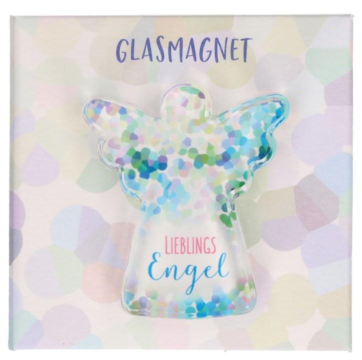 Engel-Glasmagnet - Lieblingsengel