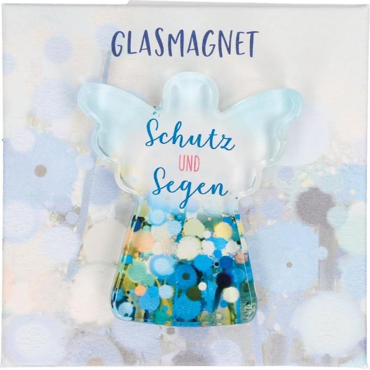 Engel-Glasmagnet - Schutz und Segen