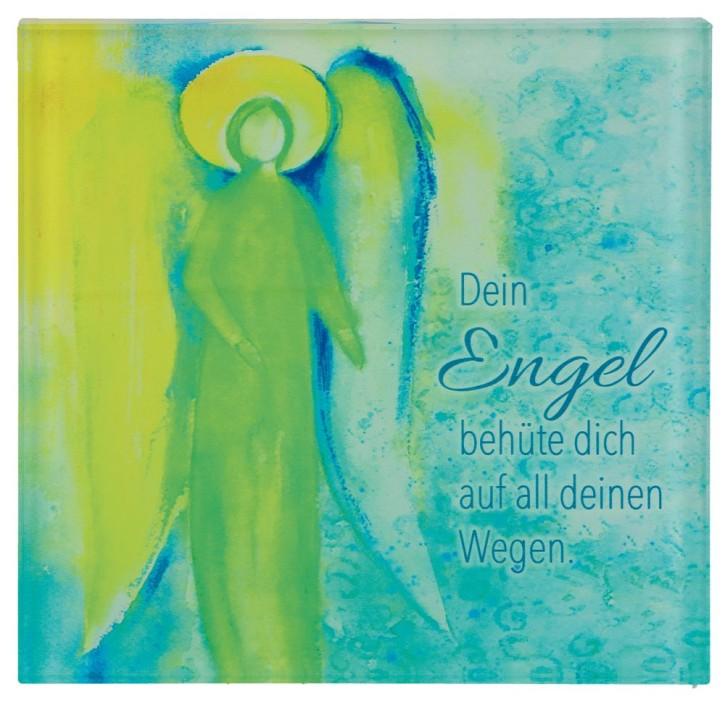 Glasrelief - Dein Engel behüte dich