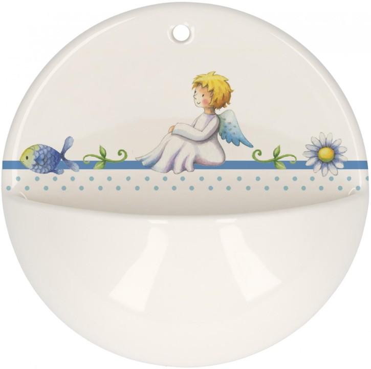 Weihwasserbecken aus Porzellan - Du bist von Gott geliebt