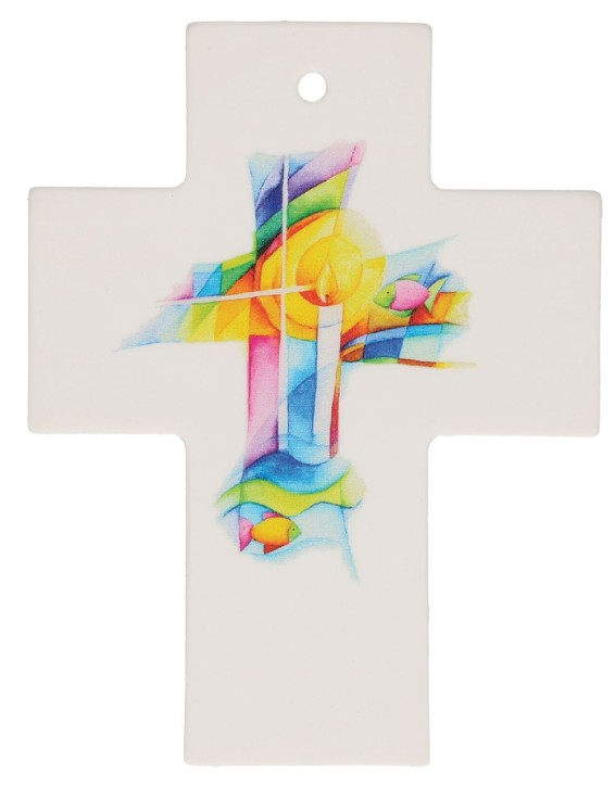 Porzellankreuz - Gottes Segen
