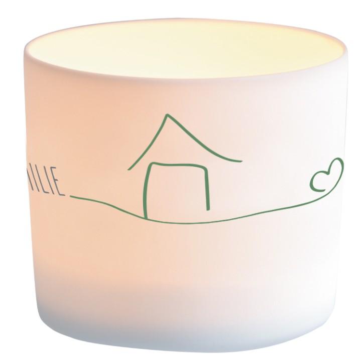 Windlicht aus Porzellan - Zuhause