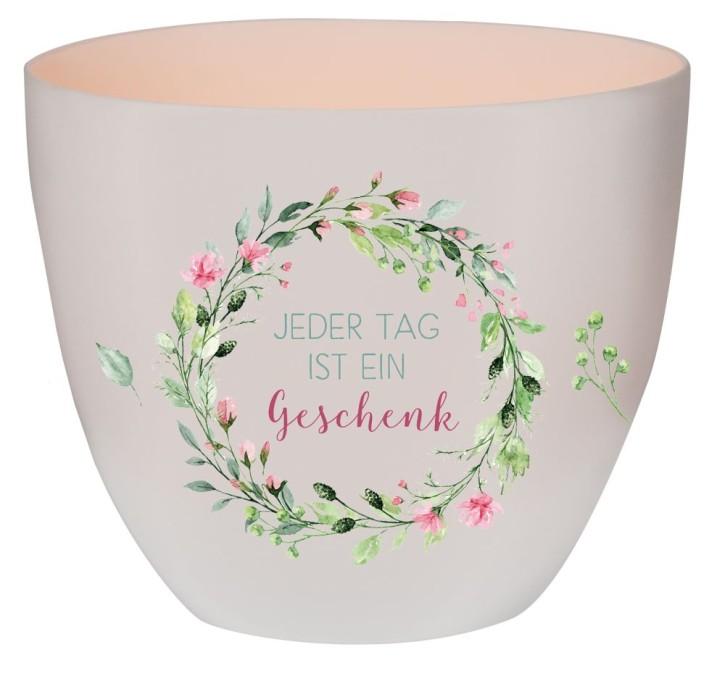 Windlicht aus Porzellan - Jeder Tag ist ein Geschenk