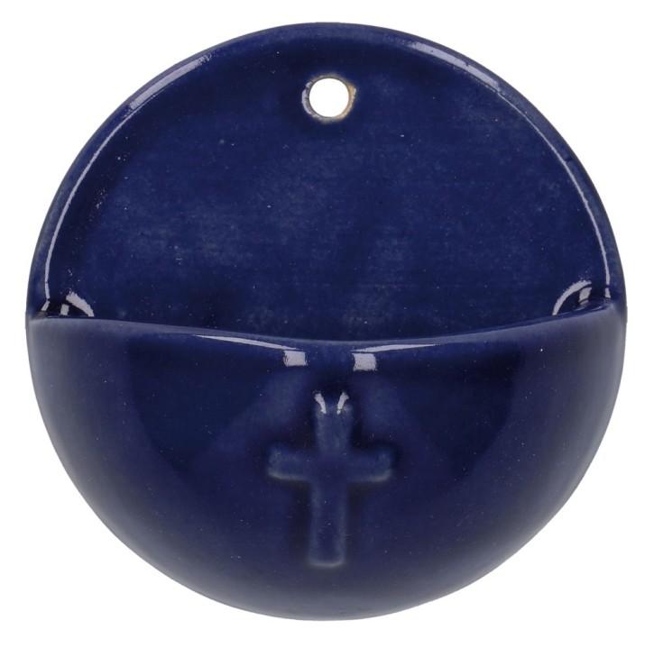 Keramik-Weihwasserbecken - Kreuz