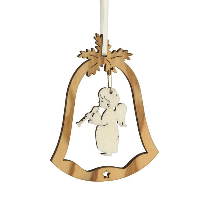 Christbaumschmuck Glocke - mit Motiv Föte spielender Engel