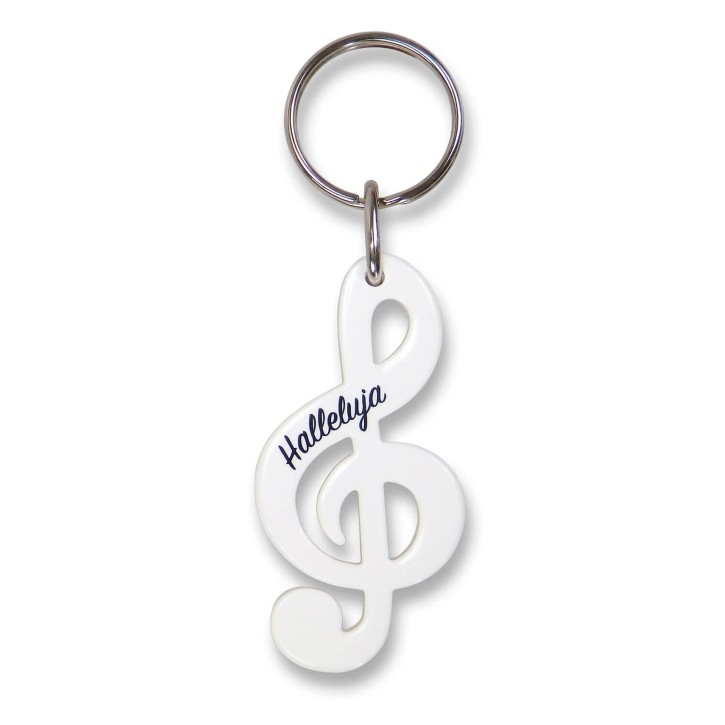 Schlüsselanhänger - Notenschlüssel