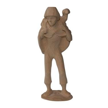 Krippenfigur Hirte mit Schulterschaf zur Dorfkrippe