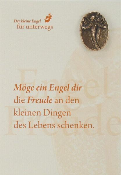 Engelkarte mit Handschmeichler: Engel der Freude