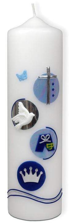Taufkerze - Jungen blau