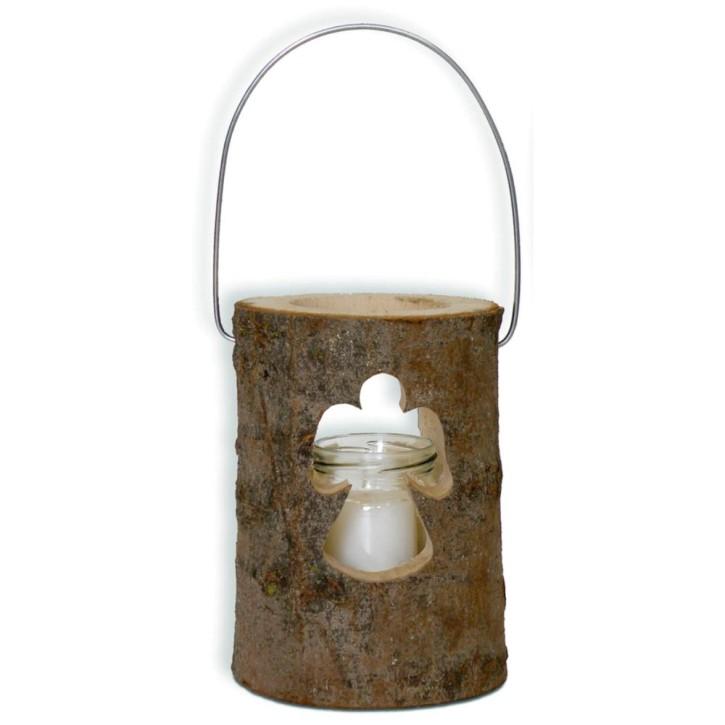 Holzdekolampe - Engel