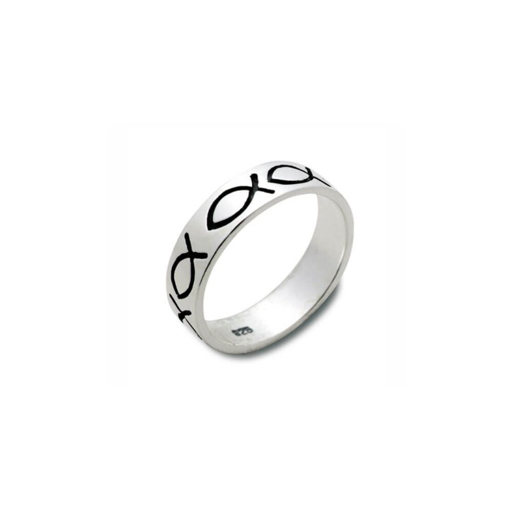 Ring Fische Sterlingsilber 17mm