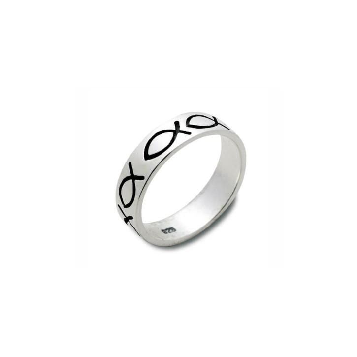 Ring Fische Sterlingsilber 20mm