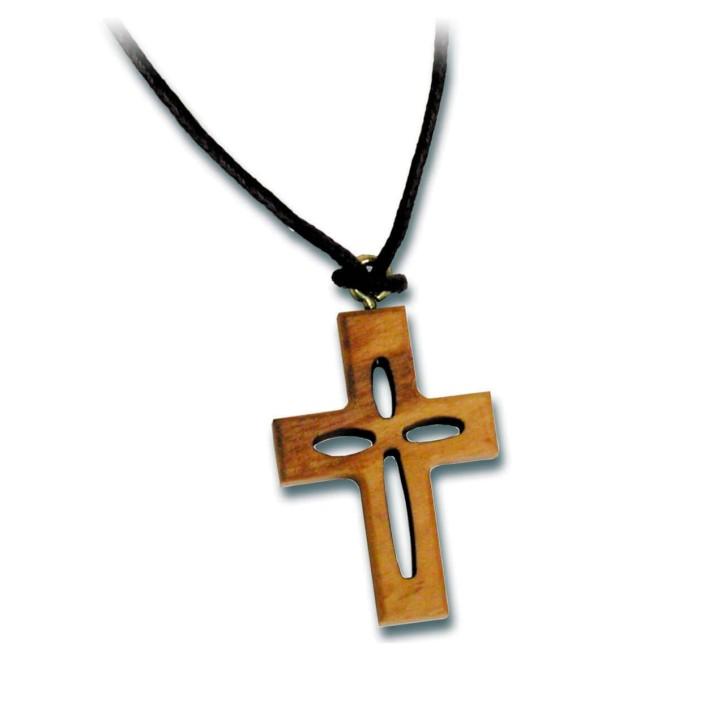 Halskette - Holzkreuz