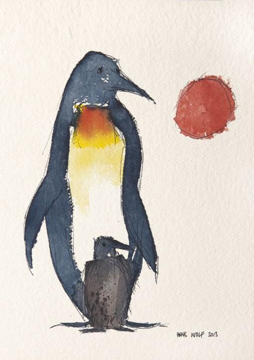 Pinguin mit Kind