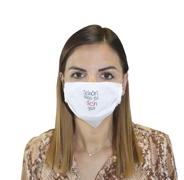 Mund-Nasen-Maske - Schön, dass es dich gibt