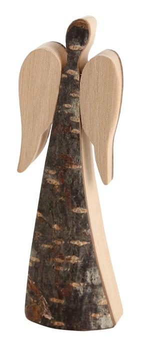 Schutzengel aus Rindenholz