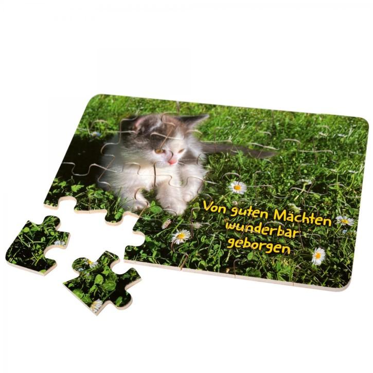 Holz-Puzzle - Katzenbaby