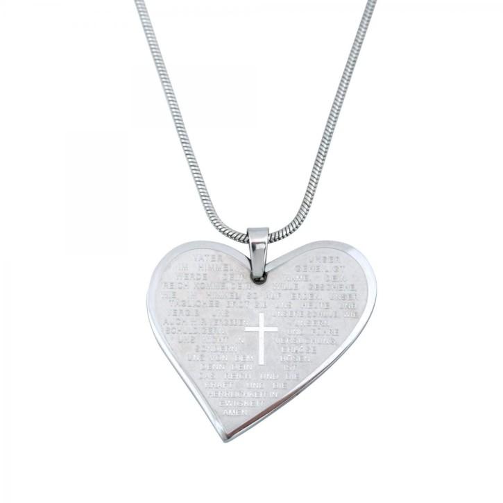 Halskette - Herz - Vaterunser