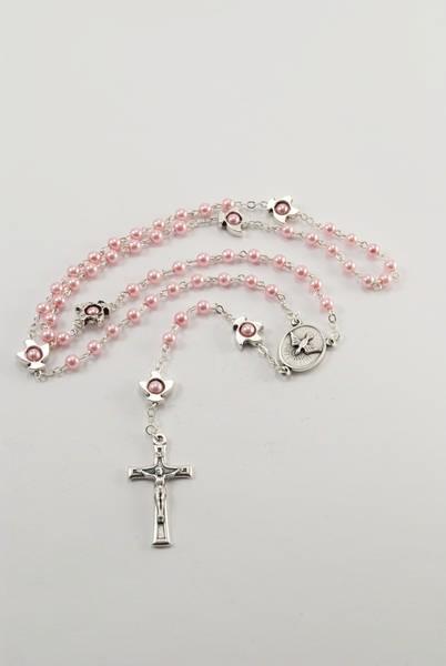 Rosenkranz kleine Perlen rosa